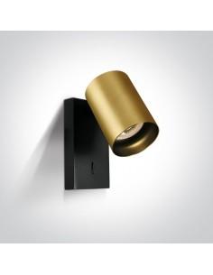 Kinkiet regulowany z włącznikiem mosiądz Elatos K 1 tuba 65105NA/BBS - OneLight