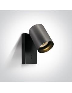 Kinkiet szary regulowany z włącznikiem Elatos K 1 65105NA/MG - OneLight