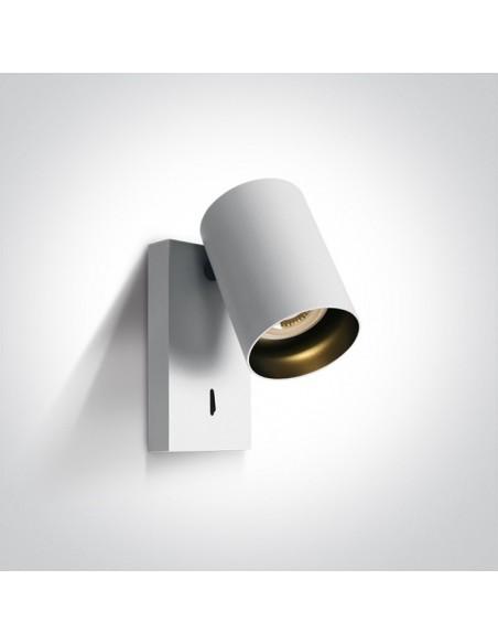 Kinkiet regulowany z włącznikiem biały Elatos tuba K 1 65105NA/W - OneLight