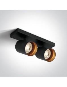 Oprawa sufitowa regulowana czarna Elatos 2 spot tuby 65205N/B - OneLight