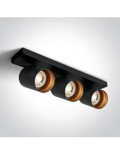 Oprawa sufitowa regulowana Elatos 3 spot czarny tuby 65305N/B - OneLight