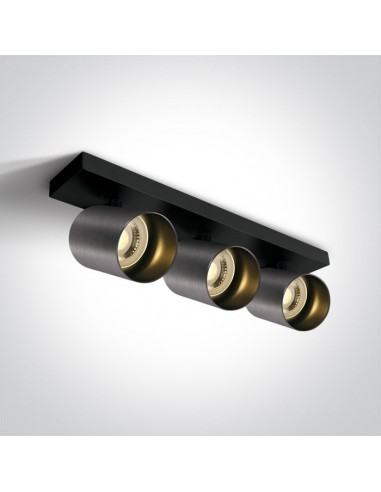 Oprawa regulowana spot Elatos 3 szara natynkowa tuby 65305N/MG - OneLight