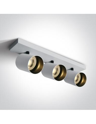 Oprawa regulowana spot Elatos 3 biała listwa tuby 65305N/W - OneLight