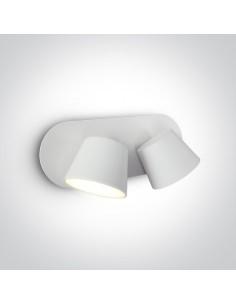 Kinkiet regulowany 2 punktowy LED Mastro biały 65740A/W/W - OneLight