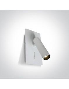 Kinkiet regulowany z włącznikiem LED Kandila 2 biały 65742/W/W - OneLight
