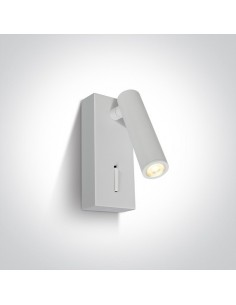 Kinkiet regulowany z włącznikiem LED Kandila biały 65746/W/W - OneLight