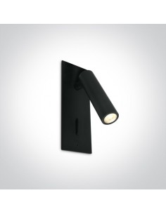 Kinkiet z włącznikiem LED Kandila 3 czarny regulowany 65746R/B/W - OneLight