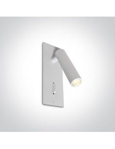 Kinkiet biały z włącznikiem LED Kandila biały regulowany 65746R/W/W - OneLight