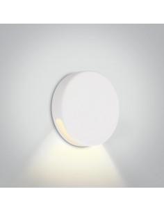 Oprawa schodowa elewacyjna okrągła Persena Led IP65 biała 2W 68074/W/W - OneLight