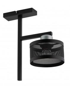 Lampa sufitowa metalowa Off 1 punktowa czarno srebrna 32142 - Sigma