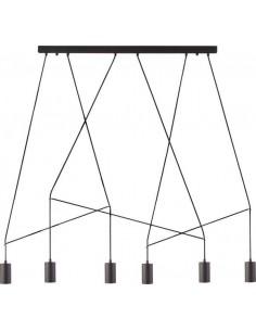 Lampa sufitowa Imbria black 6 punktowa nowoczesna 9675 - Nowodvorski