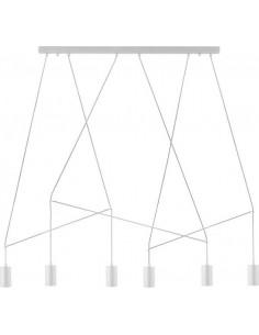 Lampa sufitowa nowoczesna Imbria white 6 punktowa 9674 - Nowodvorski