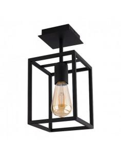 Lampa sufitowa loftowa czarna Crate 1 punktowa klatka 9045 - Nowodvorski
