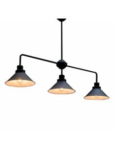 Lampa sufitowa loftowa czarna Craft 3 punktowa 9150 - Nowodvorski