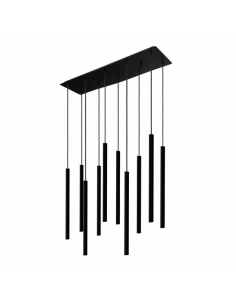 Lampa wisząca czarna Laser czarna sople zwis tuby 8923 - Nowodvorski