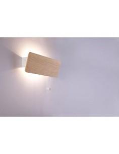 Kinkiet drewniany z włącznikiem regulowany Oslo 9700 - Nowodvorski