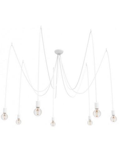 Lampa wisząca Spider biały pająk 7 punktowy zwis 9743 - Nowodvorski