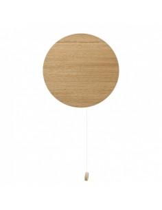 Kinkiet drewniany z włącznikiem Minimal okrągły eko 9377 - Nowodvorski