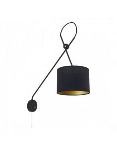 Kinkiet z włącznikiem i abażurem Viper czarno złoty 6513 - Nowodvorski