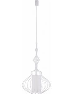 Lampa wisząca druciana z abażurem Abi zwis biały 8867 - Nowodvorski