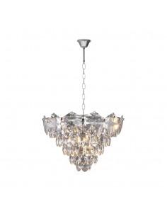 Żyrandol kryształowy chrom Sellena zwis glamour ML5987 - Milagro