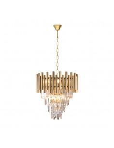 Żyrandol kryształowy Madison złoty glamour zwis ML5992 - Milagro