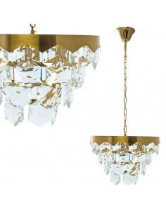 Żyrandol kryształowy Grace złoty glamour zwis ML5994 - Milagro