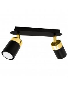 Lampa sufitowa spot regulowany Joker czarno złota listwa MLP6124 - Milagro