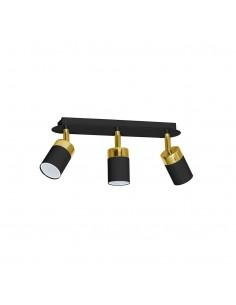 Lampa sufitowa czarno złota spot regulowany Joker MLP6125 listwa - Milagro