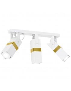 Lampa sufitowa Vidar spot regulowany biało złoty MLP6274 - Milagro