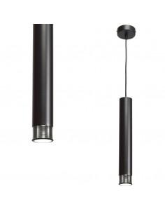 Lampa wisząca Dani tuba czarny i chrom MLP6231 - Milagro