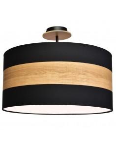 Lampa sufitowa Terra 3 punktowa czarna z drewnem MLP6291 - Milagro
