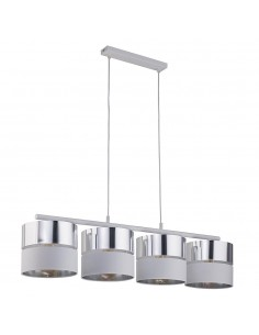 Lampa wisząca 4 punktowa Hilton srebrno biała 4177 - TK Lighting