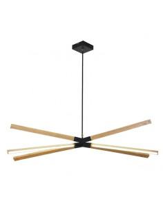 Lampa wisząca drewniana LED Lugano LP-2828/6P - Light Prestige
