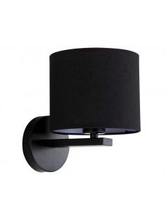 Kinkiet Cecina 1 punktowy czarny abażur LP-114/1W BK - Light Prestige