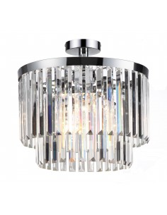 Lampa sufitowa Vetro kryształowa chrom LP-2910/4C - Light Prestige