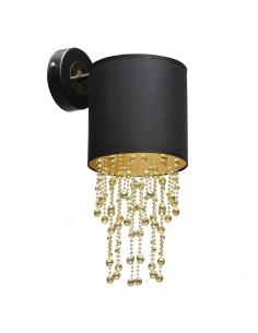 Almeria kinkiet czarno złoty z kryształkami MLP6438 - Milagro