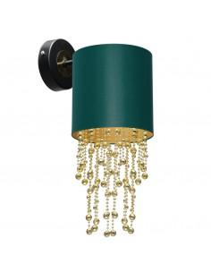 Almeria kinkiet zielono złoty z kryształkami MLP6448 - Milagro