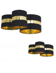 Palmira lampa sufitowa czarno złota 3 punktowa MLP63200 - Milagro