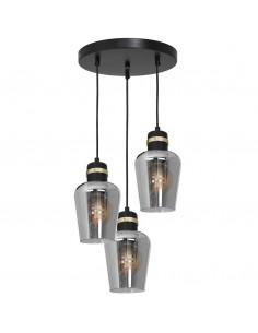 Richmond lampa wisząca 3 punktowa czarna MLP6541 - Milagro