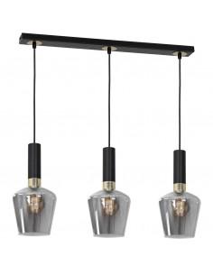 Roma lampa wisząca listwa 3 punktowa MLP6485 czarno złota - Milagro