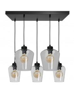 Santiago lampa wisząca 5 punktowa transparentna MLP6615 - Milagro