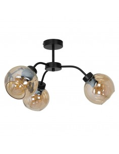 Sofia lampa sufitowa 3 punktowa bursztynowa MLP6595 - Milagro