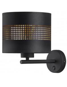 Tago kinkiet z włącznikiem czarno złoty 3210 - TK Lighting