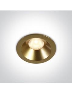 Oczko podtynkowe LED Armu mosiądz okrągłe 10108D/BS/W - OneLight