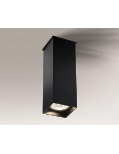 Toda oprawa natynkowa czarna 18cm nowoczesna GU10 1102 - Shilo