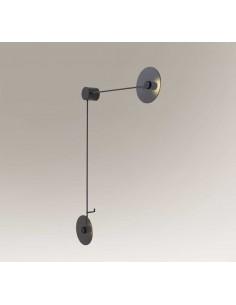 Furano kinkiet minimalistyczny LED czarny 2 punktowy 7818 - Shilo