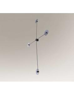 Furano kinkiet minimalistyczny LED 4 punktowy czarny 7814 - Shilo