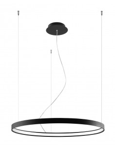 Rio lampa wisząca LED 80 ring czarna circle TH.101 - Thoro
