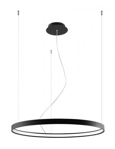 Rio lampa wisząca LED 80 ring czarna circle TH.101 - Thoro